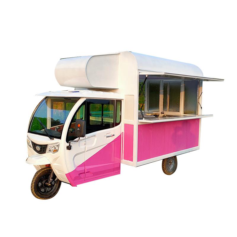 福源三轮车摆摊小吃车多功能移动早餐快餐车