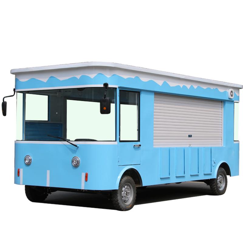 小吃车多功能移动快餐车 冰淇淋流动推车摆摊美食房车