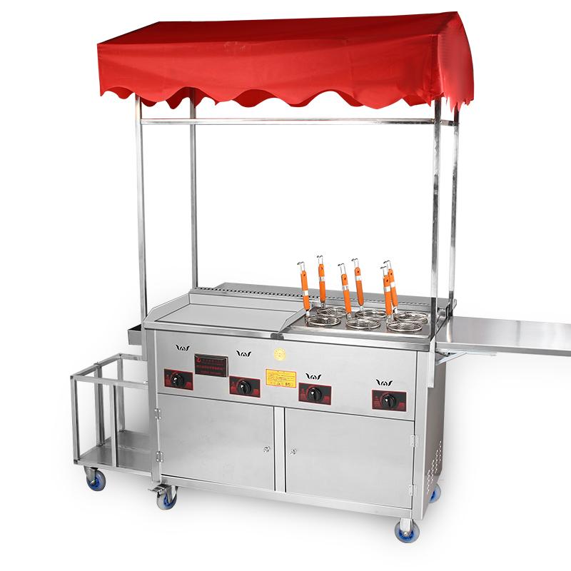 流动小吃车商用夜市水煮油炸铁板烧手抓饼炸炉多功能餐车