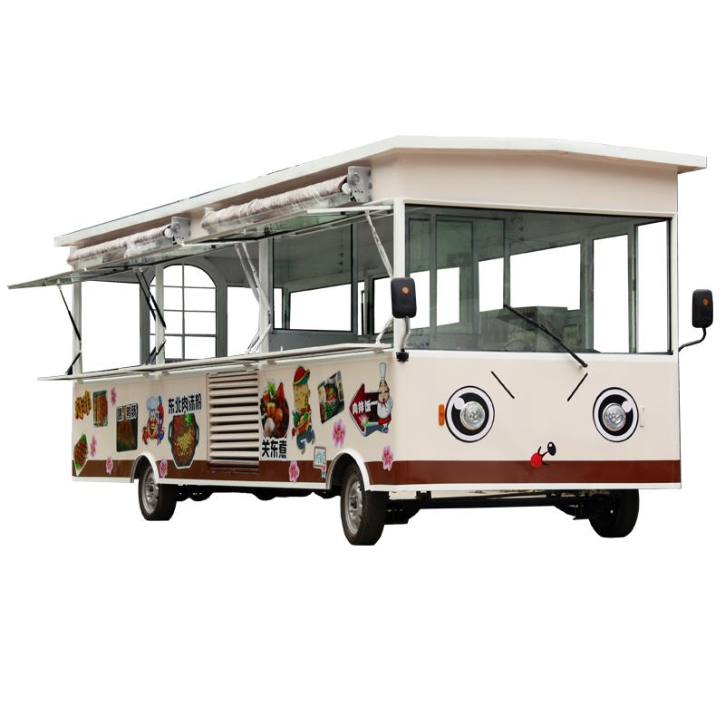 小吃车多功能电动四轮移动流动餐车