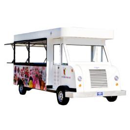 超凡小吃车电动四轮餐车 多功能商用流动餐车房车