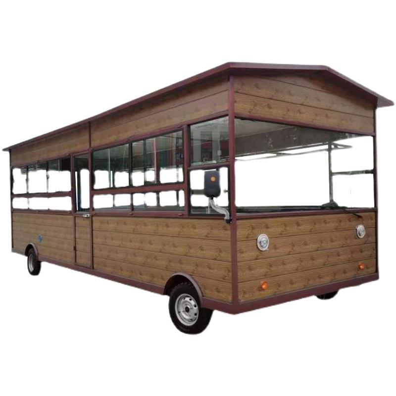 电动四轮多功能移动早餐车流动小吃车 商用摆摊车定制