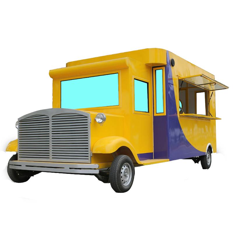 定制电动小吃车摆摊多功能四轮移动早餐车 炸串夜市美食车