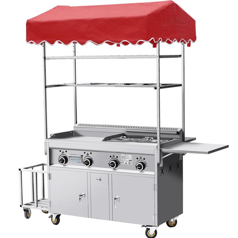 煤气多功能商用小吃餐车 流动摆摊车