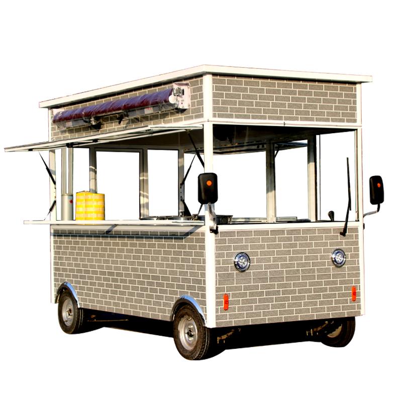 小吃车多功能餐车商用电动四轮移动餐车房车