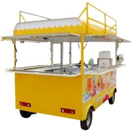 早餐摆摊车多功能餐车电动小吃车商用移动四轮车