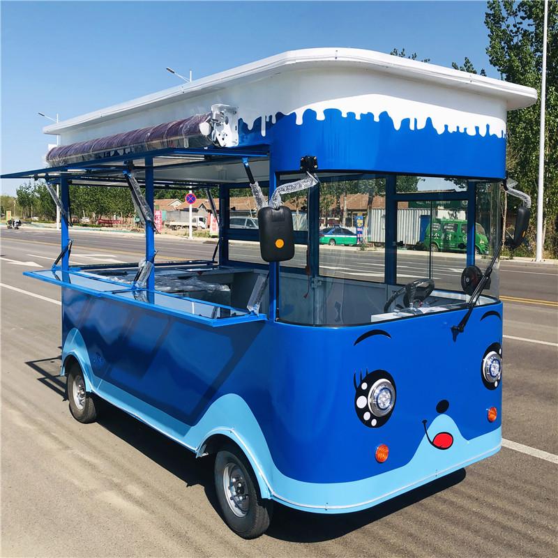 小吃车推车摆摊多功能餐车电动四轮移动美食车