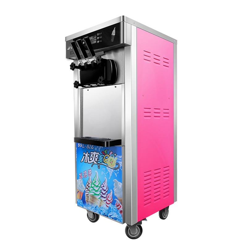 钧霆冰淇淋机商用雪糕机立式流动软冰激凌机