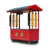 小吃车推车摆摊商用多功能移动流动仿古餐车