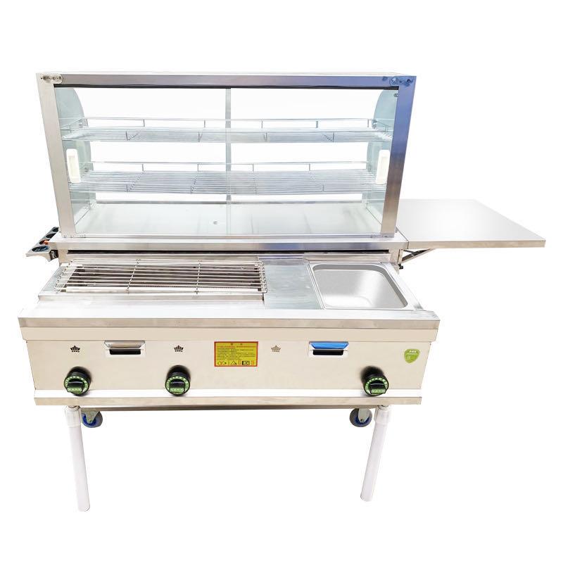 商用流动铁板烧小吃车 烧烤摆摊扒炉 多功能燃气餐车