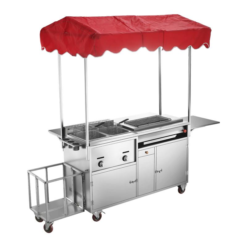 流动扒炉 移动路边多功能餐车烧烤车 商用小吃车