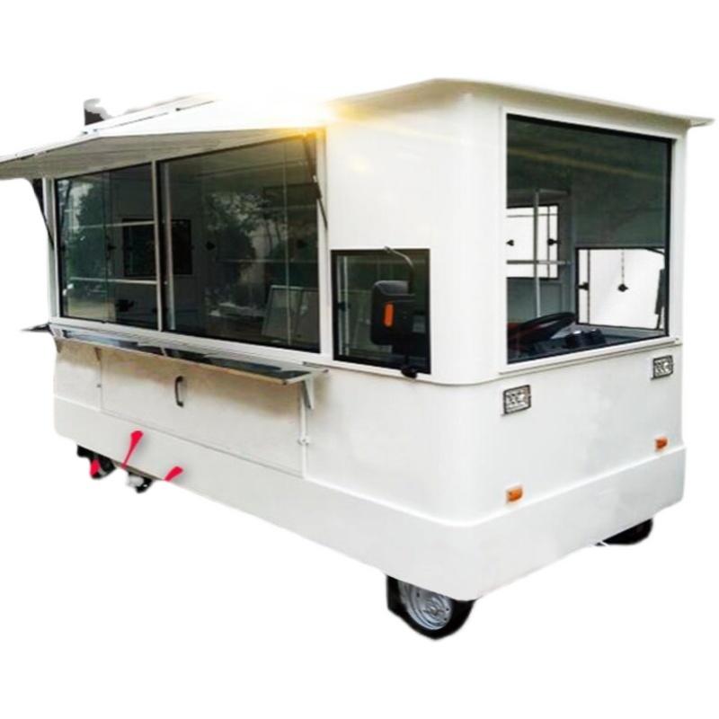 多功能小吃车餐车 电动四轮推车商用美食奶茶房车