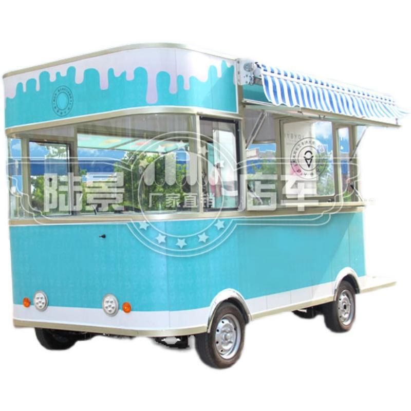 小吃车推车摆摊多功能餐车电动美食早餐房车