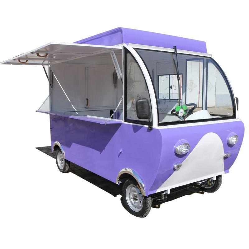 电动四轮多功能移动快餐盒路边摊美食售货车