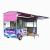 多功能电动四轮餐车 移动早餐小吃车商用房车