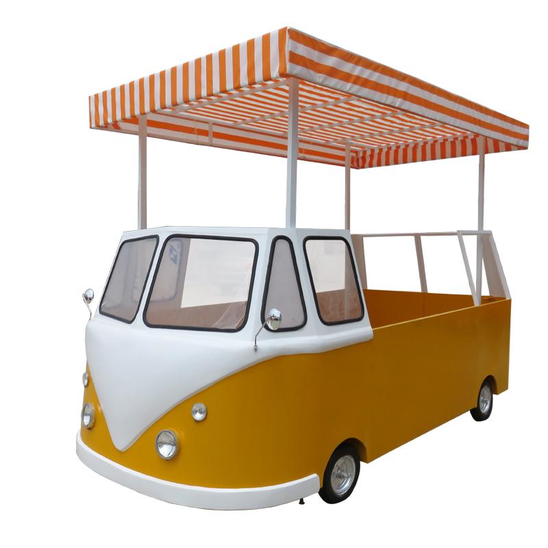 宜家居定做商用餐厅移动美食快餐车多功能小吃摆摊车